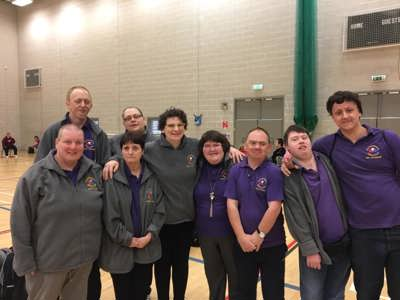 Team of Telford Boccia players during a competition