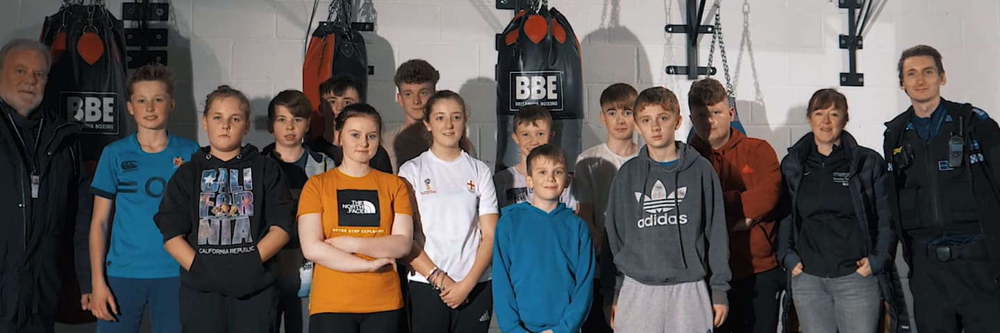 Young members of Wem Boxing club